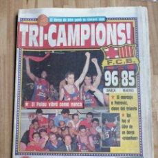 Coleccionismo deportivo: PERIODICO SPORT F. C BARCELONA CAMPEON DE LIGA DE BASKET TEMPORADA 1988/89. Lote 203587156