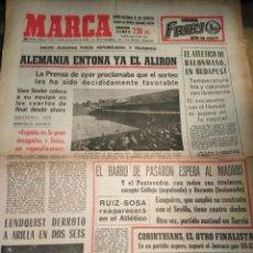 Coleccionismo deportivo: MARCA-8/1/66,N7472,MUNDIAL66 ALEMANIA ENTONA YA EL ALIRON, BRASIL EL FAVORITO DE LOS INGLE. Lote 203618380