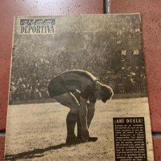 Coleccionismo deportivo: ANTIGUO PERIODICO DEPORTIVO VIDA DEPORTIVA 1955. TODA FOTOGRAFIADA. REPORTAJES MUY INTERESANTES.... Lote 203906361