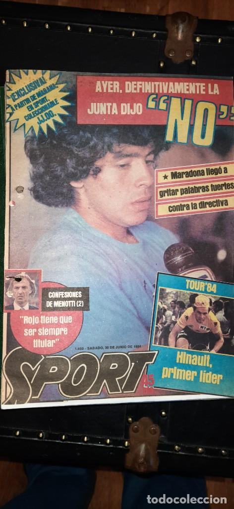 PERIÓDICO SPORT SOBRE MARADONA 1984/1992 (RECORTES) (Coleccionismo Deportivo - Revistas y Periódicos - Sport)