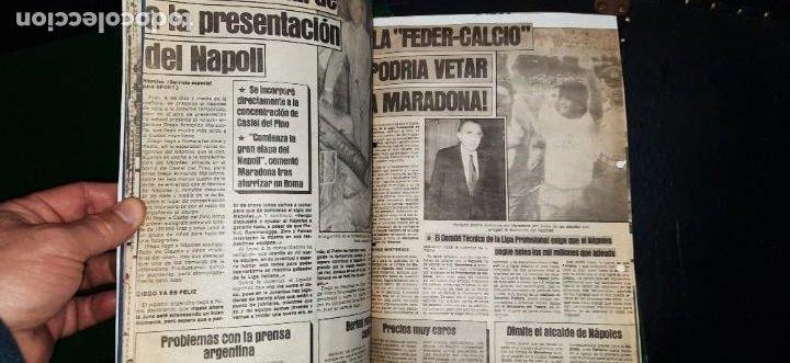 Coleccionismo deportivo: Periódico Sport sobre MARADONA 1984/1992 (Recortes) - Foto 2 - 203940488