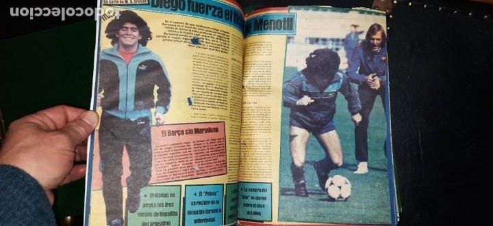 Coleccionismo deportivo: Periódico Sport sobre MARADONA 1984/1992 (Recortes) - Foto 4 - 203940488