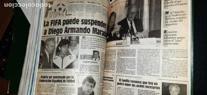 Coleccionismo deportivo: Periódico Sport sobre MARADONA 1984/1992 (Recortes) - Foto 5 - 203940488