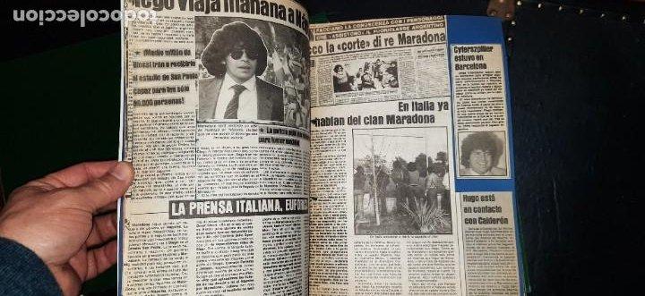 Coleccionismo deportivo: Periódico Sport sobre MARADONA 1984/1992 (Recortes) - Foto 6 - 203940488