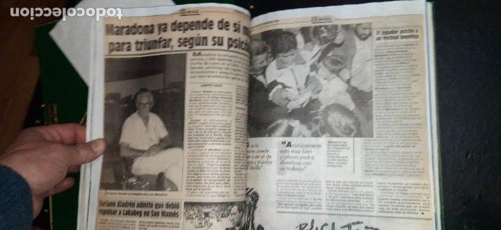 Coleccionismo deportivo: Periódico Sport sobre MARADONA 1984/1992 (Recortes) - Foto 7 - 203940488