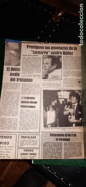 Coleccionismo deportivo: Periódico Sport sobre MARADONA 1984/1992 (Recortes) - Foto 10 - 203940488