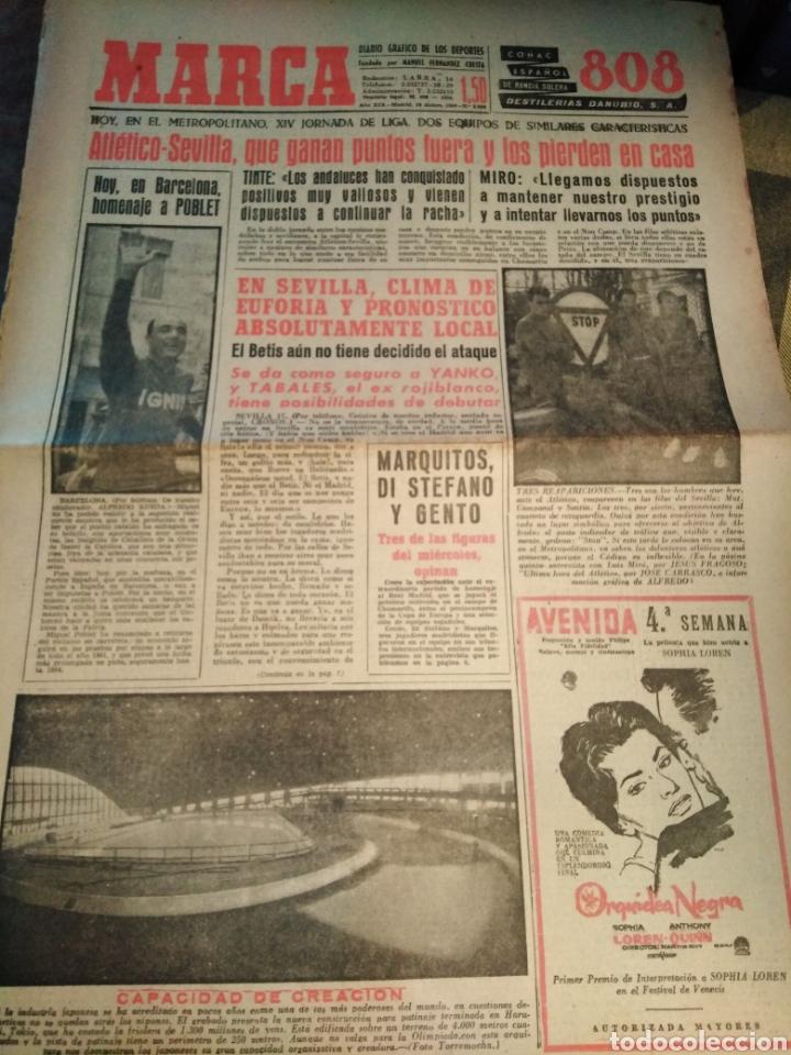 MARCA-18/12/60,HOYBEN BARCELONA HOMENAJE A POBLET,ATLÉTICO-SEVILLA,BETIS-MADRID, (Coleccionismo Deportivo - Revistas y Periódicos - La Jornada Deportiva)
