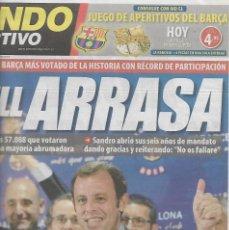 Coleccionismo deportivo: BARÇA: ROSELL ARRASA. DIARIO MUNDO DEPORTIVO. 14 DE JUNIO DE 2010. Lote 204089278