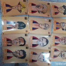 Coleccionismo deportivo: LOTE DE CARICATURAS EN LAMINA DE CARTON DE LOS JUGADORES DEL F.C.BARCELONA * BARSA * 40. Lote 204128618