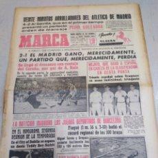 Coleccionismo deportivo: MARCA-23/9/62,EL ATLÉTICO ARROLLA AL SEVILLA 4-2,VICTORIA EN CORUÑA DEL MADRID 1-2,ENTREVISTA TRASER. Lote 204235732