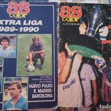 Collectionnisme sportif: 2 REVISTAS AS COLOR EXTRA LIGA 1988/1989 Y 1989/1990 POSTER TODAS LAS PLANTILLAS NUMEROS 177 Y 186. Lote 204261533