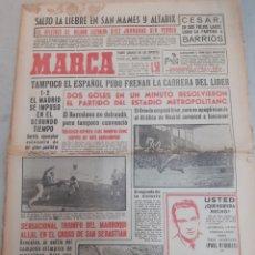 Coleccionismo deportivo: MARCA-30/1/61,1-2 SE IMPOSO EL MADRID AL ESPAÑOL,10 JORNADAS SIN PERDER EL AT.BILBAO. Lote 204282011