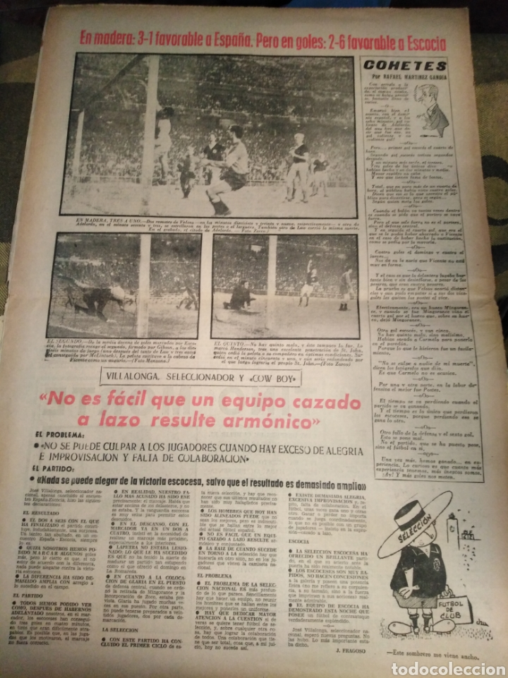 Coleccionismo deportivo: MARCA-14/6/63,CHAMARTIN 2-6TUMBA DE LA SELECCIÓN ESPAÑOLA PIERDE FRENTE ESCOCIA,ESTA NOCHE TRIANGUAL - Foto 2 - 204359467