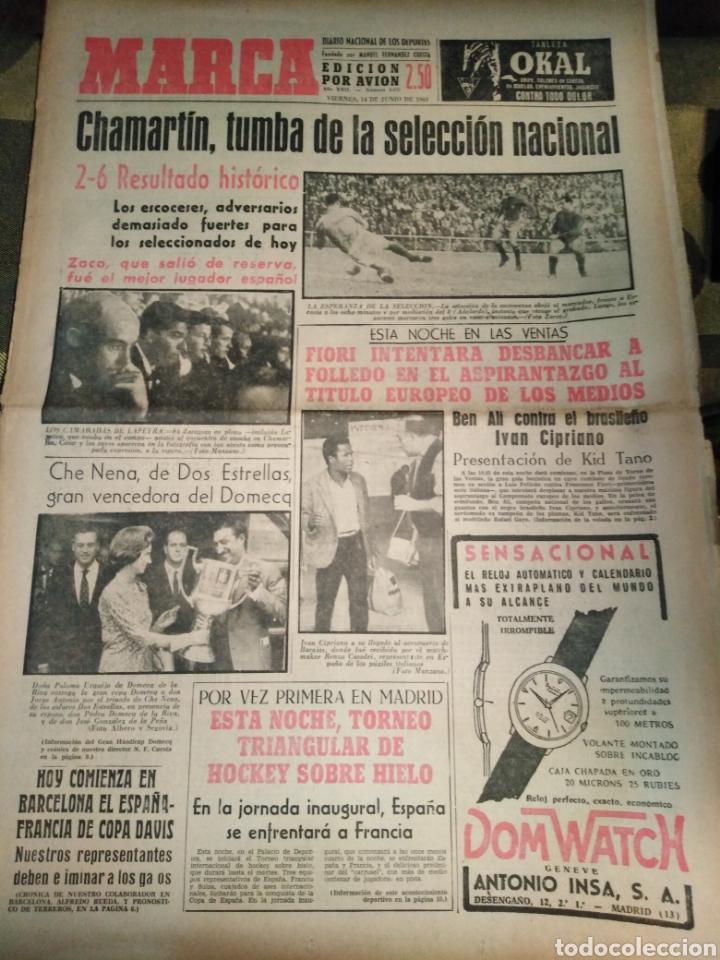 MARCA-14/6/63,CHAMARTIN 2-6TUMBA DE LA SELECCIÓN ESPAÑOLA PIERDE FRENTE ESCOCIA,ESTA NOCHE TRIANGUAL (Coleccionismo Deportivo - Revistas y Periódicos - La Jornada Deportiva)