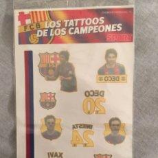 Coleccionismo deportivo: SOBRE LOS TATTOOS DE LOS CAMPEONES. SPORT. XAVI, INIESTA, DECO. Lote 204402591