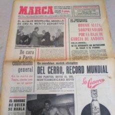 Coleccionismo deportivo: MARCA-18/7/70,CICLISMO DE CARA A PARÍS,RONNIE ALLEN AMENAZA CON DIMITIR EN BILBAO,REPORTAGE BOXEO FI. Lote 204404762