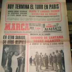 Coleccionismo deportivo: MARCA-19/7/70,CICLISMO HOY TERMINA EL TOUR,TENIS TRIUNFO DE SANTANA FRENTE ORANTES,REPORTAGE PORTADA. Lote 204428427