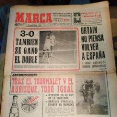Coleccionismo deportivo: MARCA-16/7/70,TENIS 3-0 TAMBIÉN SE GANO EN DOBLES,CICLISMO TRAS EL TURMALET Y EL AUBISQUE TODO IGUAL. Lote 204428855