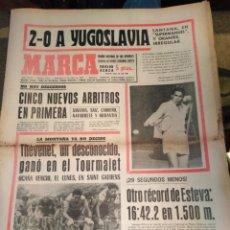 Coleccionismo deportivo: MARCA-15/7/70,TENIS 2-0 A YUGOSLAVIA SANTANA EN PLAN SUPER MANUEL,CICLISMO THEVENET UN DESCONOCIDO G. Lote 204429031