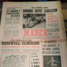 Coleccionismo deportivo: MARCA-24/10/70,TENIS OPEN,ROSEWALL ELIMINADO, SANTANA-FRANULOVIC,REPORTAGE VICENTE CALDERÓN PARTE TR. Lote 204429303