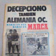 Coleccionismo deportivo: MARCA-15/6/74,MUNDIAL74,DECEPCIÓN TAMBIÉN ALEMANIA OC,ESCOCIA Y ALEMANIA OR GANARON SUS PARTIDOS,EL. Lote 204536980