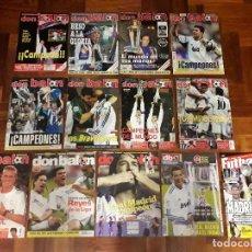 Coleccionismo deportivo: REVISTAS ESPECIAL DON BALÓN REAL MADRID TÍTULOS LIGA CHAMPIONS POSTERS. Lote 204629816