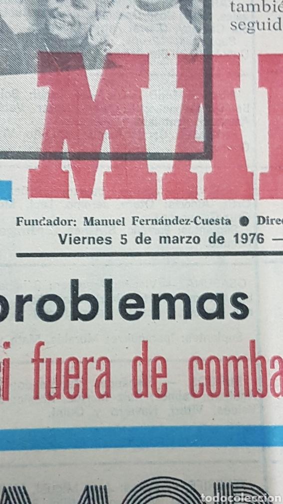 Coleccionismo deportivo: Diario Marca 5 de marzo 1976 - Foto 2 - 204648717