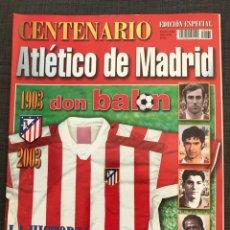 Coleccionismo deportivo: FÚTBOL DON BALON - EXTRA 65 CENTENARIO ATLÉTICO DE MADRID - MARCA AS SPORT ÁLBUM CROMO. Lote 204674382