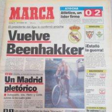 Collectionnisme sportif: MARCA-29/9/91,VUELVE BEENHAKKER AL MADRID,PERDIÓ EL BARSA 1-2MOLINON,G.P.ESPAÑA F1, SE ESTRENA MONTM. Lote 204683105
