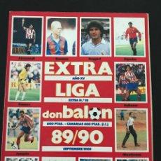 Coleccionismo deportivo: FÚTBOL DON BALON 18 - EXTRA LIGA TEMPORADA 89-90 1989-1990 - AS MARCA ÁLBUM CROMO. Lote 204691798