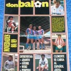 Coleccionismo deportivo: LOTE 4 REVISTAS DON BALON 1988-99 LIGA FUTBOL JUGADORES 1ª DIVISION CAMINERO MUNITIS + REGALOS MIRA. Lote 204808373