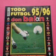 Collezionismo sportivo: EXTRA DON BALON TODO FUTBOL 95/96 - REVISTA ESPECIAL GUIA RESUMEN LIGA TEMPORADA 1995/1996. Lote 204995355