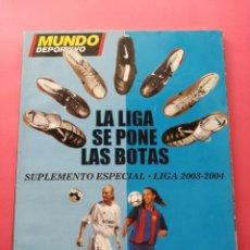 Colecionismo desportivo: REVISTA EXTRA DIARIO MUNDO DEPORTIVO GUIA LIGA 03/04 SUPLEMENTO ESPECIAL TEMPORADA FUTBOL 2003/2004. Lote 204997237