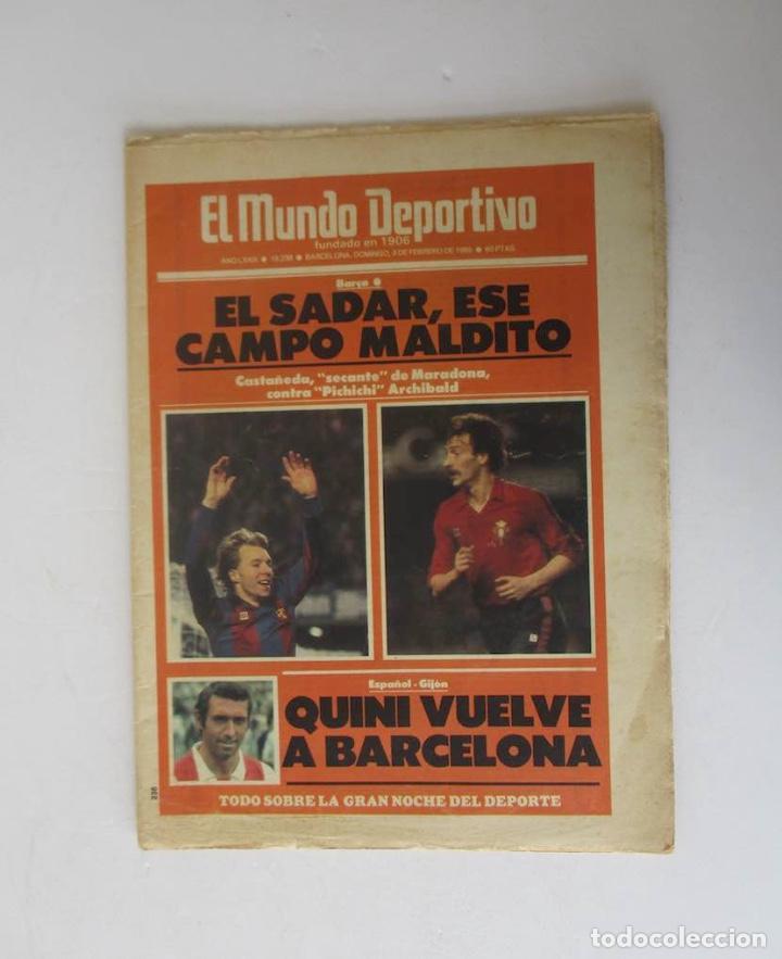 EL MUNDO DEPORTIVO AÑO 1985 - QUINI VUELVE A BARCELONA, GRAN GALA DEPORTIVA MUNDO DEPORTIVO... (Coleccionismo Deportivo - Revistas y Periódicos - Mundo Deportivo)