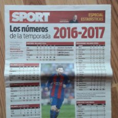 Coleccionismo deportivo: SPORT. ESPECIAL ESTADISTICAS. LOS NUMEROS DE LA TEMPORADA 2016-2017. F.C BARCELONA. FUTBOL. BARÇA.. Lote 205383496
