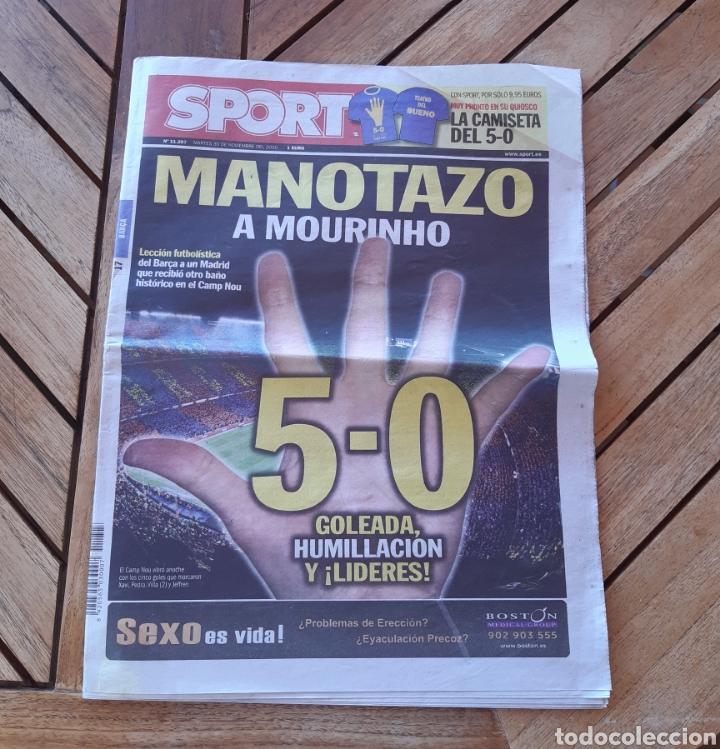 PERIÓDICO DIARIO DEPORTIVO SPORT N°11207 MANOTAZO A MOURINHO (Coleccionismo Deportivo - Revistas y Periódicos - Sport)