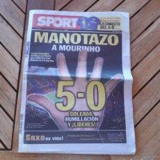 Coleccionismo deportivo: PERIÓDICO DIARIO DEPORTIVO SPORT N°11207 MANOTAZO A MOURINHO. Lote 205516581