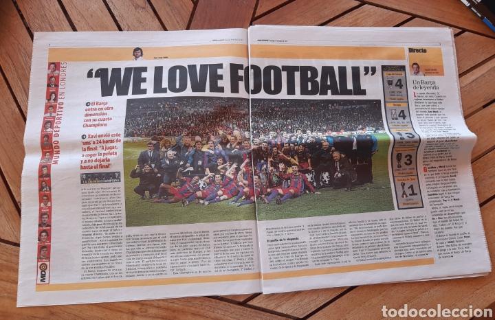 Coleccionismo deportivo: Periódico Mundo Deportivo N°28766 29 de mayo de 2011 Barsa campeón de Europa Barca Champions - Foto 2 - 205519925