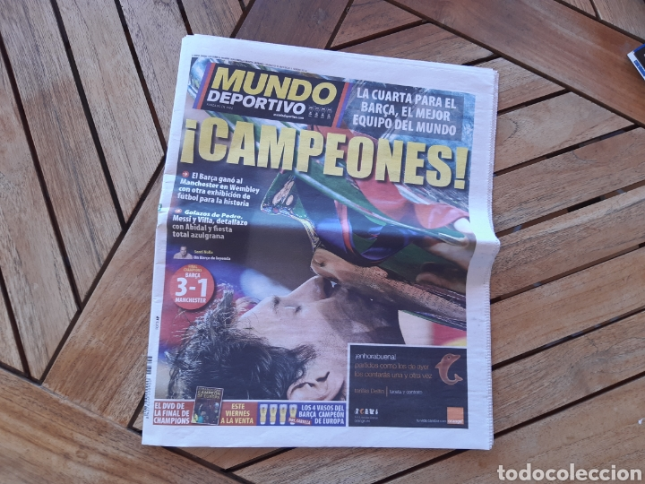 PERIÓDICO MUNDO DEPORTIVO N°28766 29 DE MAYO DE 2011 BARSA CAMPEÓN DE EUROPA BARCA CHAMPIONS (Coleccionismo Deportivo - Revistas y Periódicos - Mundo Deportivo)