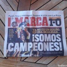 Coleccionismo deportivo: DIARIO MARCA 30 DE JUNIO DE 2008 N°23687 ESPAÑA CAMPEONA DEL EUROPA. Lote 205523293
