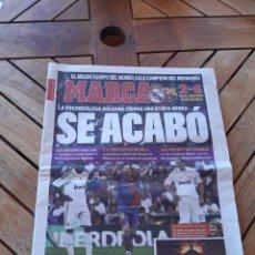 Coleccionismo deportivo: DIARIO MARCA DOMINGO 3 DE MAYO DE 2009. SE ACABÓ. REAL MADRID 2- BARCELONA. Lote 205527415