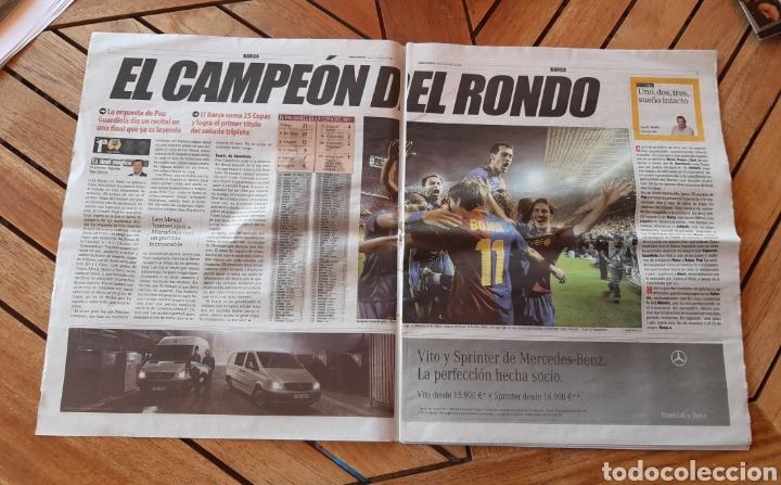 Coleccionismo deportivo: Mundo Deportivo jueves 14 de mayo de 2009 N°28027. El barsa rey de copas - Foto 2 - 205537091