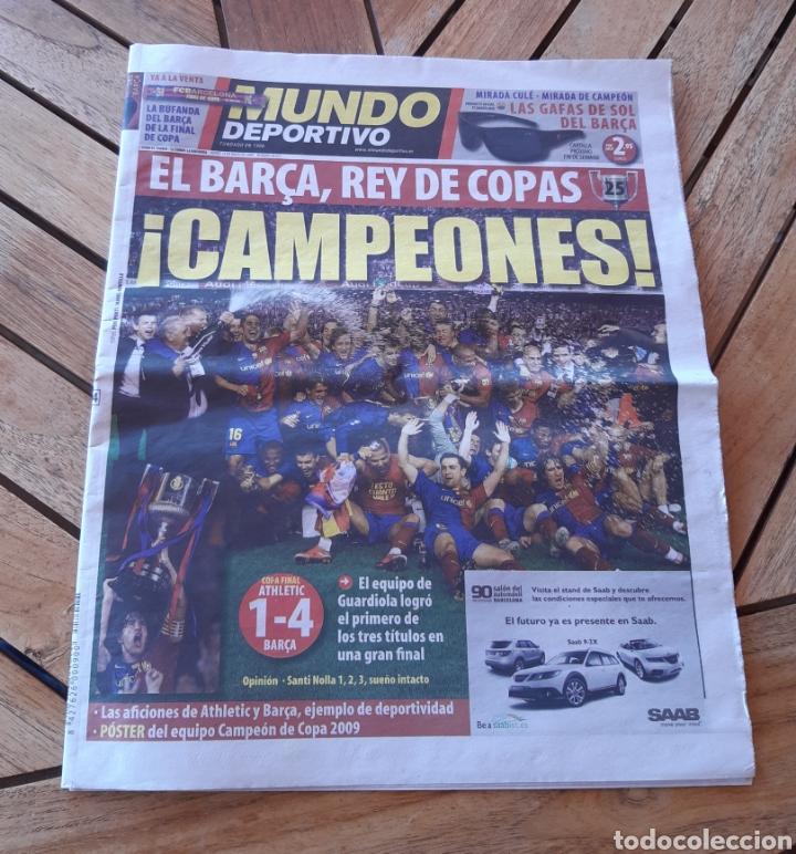 MUNDO DEPORTIVO JUEVES 14 DE MAYO DE 2009 N°28027. EL BARSA REY DE COPAS (Coleccionismo Deportivo - Revistas y Periódicos - Mundo Deportivo)