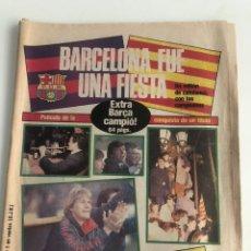 Coleccionismo deportivo: DIARIO SPORT CELEBRACION LIGA 84-85 FC BARCELONA BARÇA 25 MARZO 1985 SPORT NUM 1931 SCHUSTER URRUTI. Lote 205554380