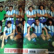 Colecionismo desportivo: AS COLOR 445 POSTER CD MALAGA 1979-80 LAS PALMAS ATLETICO Y SOCIEDAD DEPORTIVA IBIZA. Lote 205554420