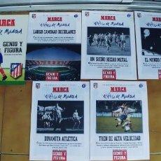 Coleccionismo deportivo: ATLÉTICO DE MADRID GENIO Y FIGURA FASCÍCULO NºS 1 2 3 4 Y 5 COMPLETA. MARCA. BUEN ESTADO. Lote 205573987