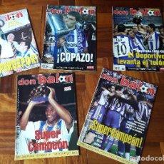 Coleccionismo deportivo: LOTE REVISTAS POSTERS DON BALÓN DEPORTIVO DE LA CORUÑA LIGA COPA SUPERDEPOR. Lote 205611493