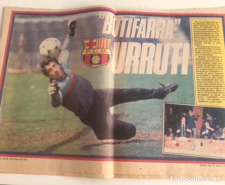 Coleccionismo deportivo: Diario Sport Celebracion Liga 84-85 FC Barcelona Barça 25 marzo 1985 Sport num 1931 Schuster Urruti - Foto 2 - 205554380