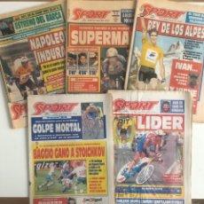 Coleccionismo deportivo: LOTE 5 PERIODICOS SPORT. UNO DE CADA TOUR DE FRANCIA GANADO POR INDURAIN 1991 1992 1993 1994 1995. Lote 205689446