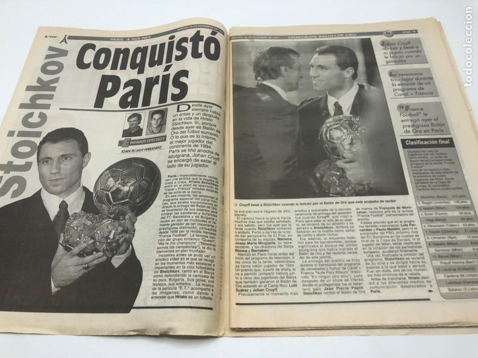 Coleccionismo deportivo: SPORT HRISTO STOICHKOV BALON DE ORO 20 DICIEMBRE 1994 FUTBOL FC BARCELONA BARÇA - Foto 2 - 205708853